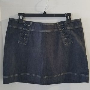 GAP Denim Mini Skirt with Sailor Waist